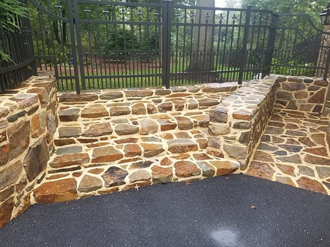 stone flat work cleaning