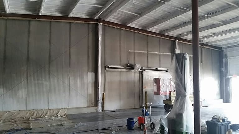 warehouse painting before acrylic paint