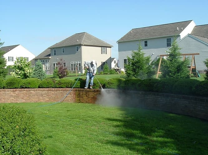 brick pressure cleaning washing