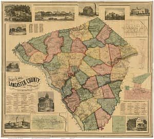 A map of Lancaster County.