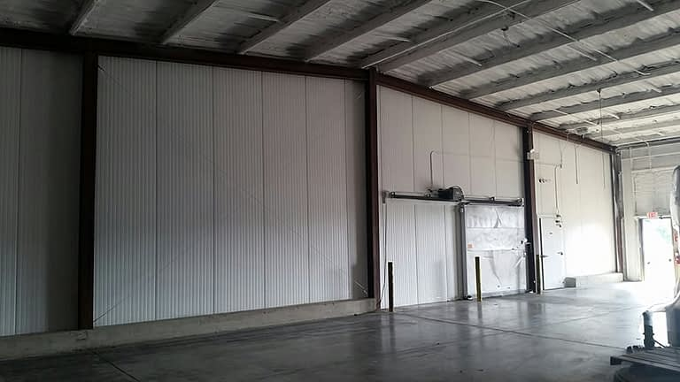 after painting warehouse wall